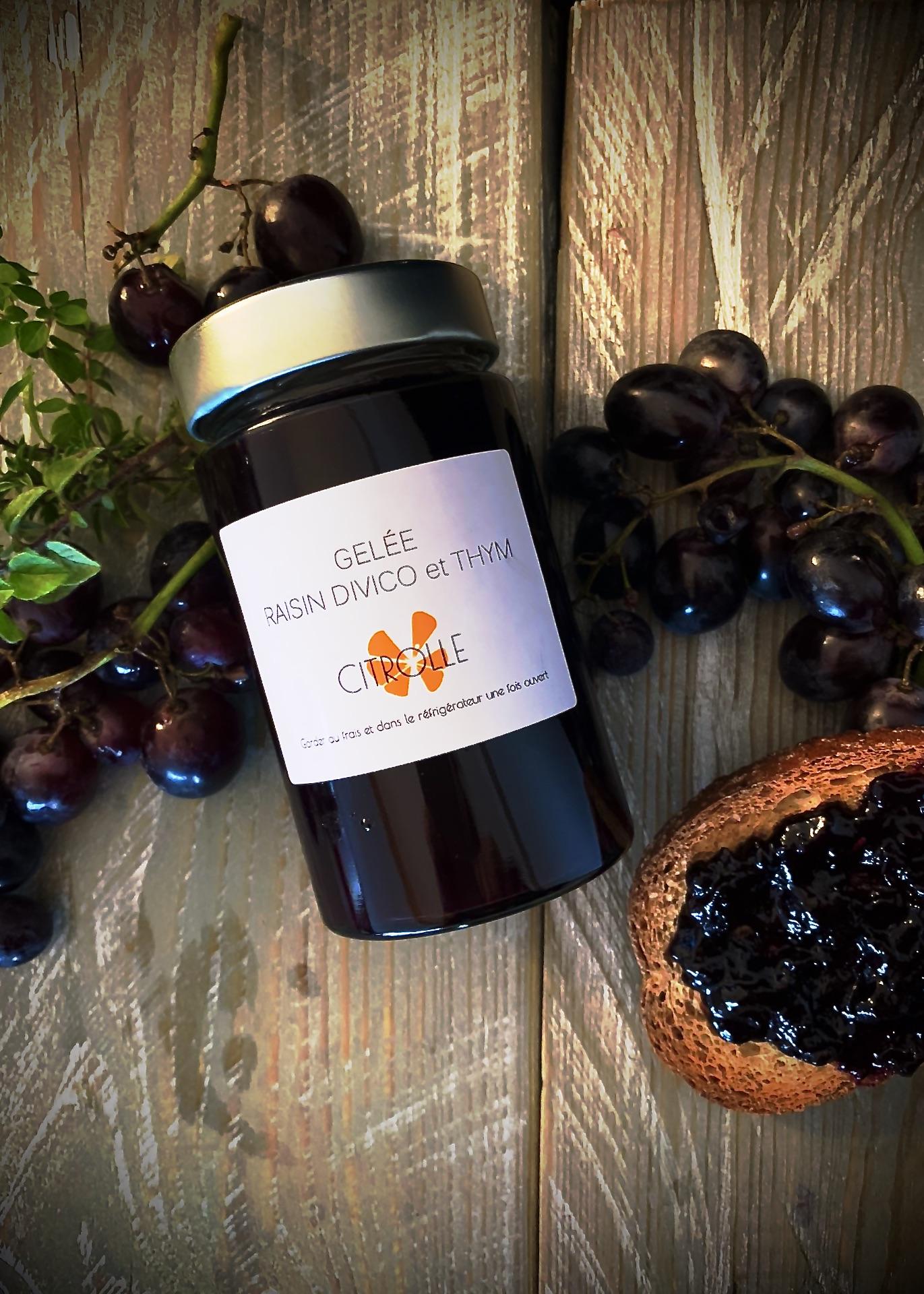 Gelée de raisin Divico et thym