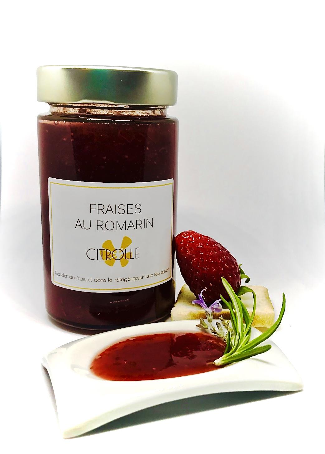 Confiture de fraise BIO aux fleurs de romarin