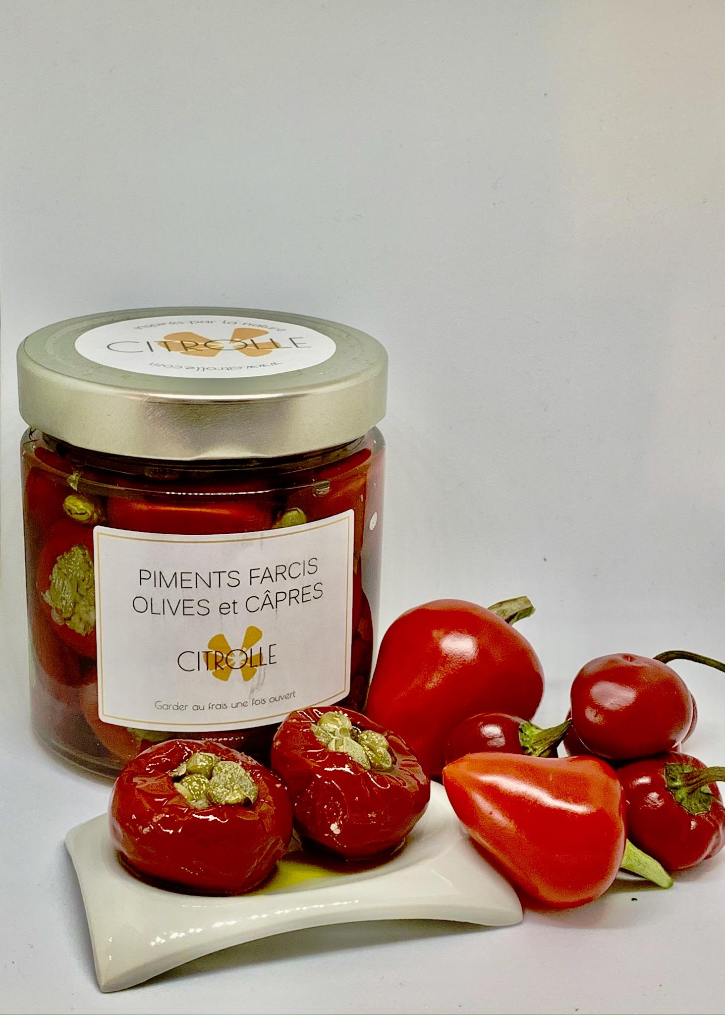 Mini piments farcis aux olives & câpres