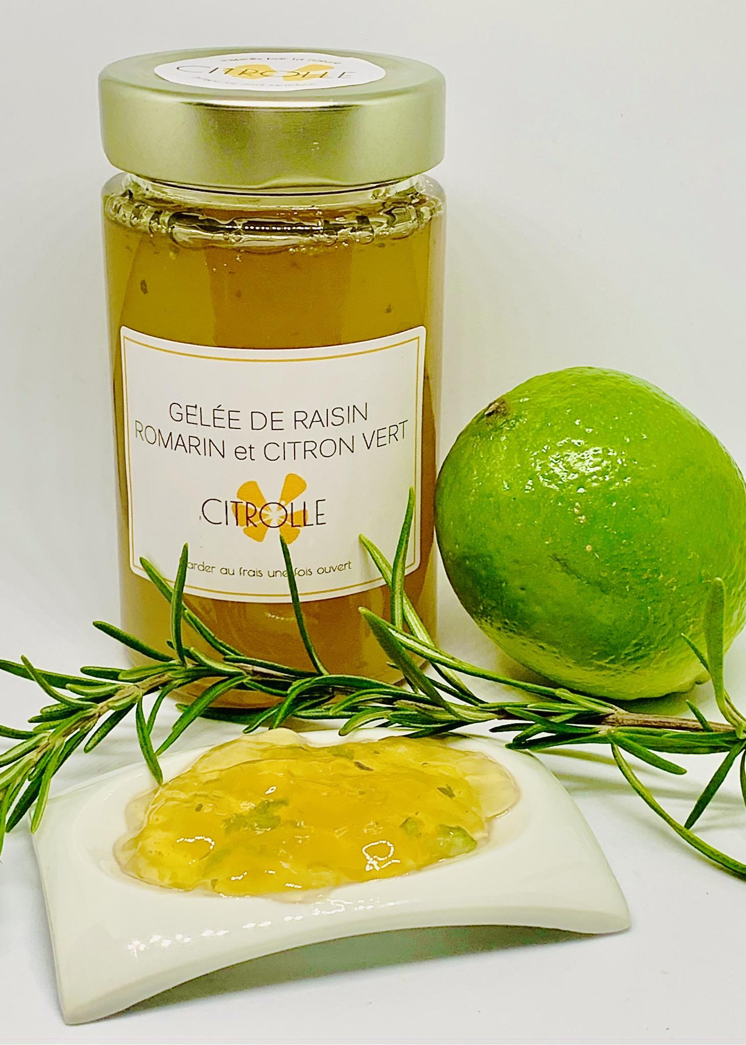 Gelée raisin romarin citron vert