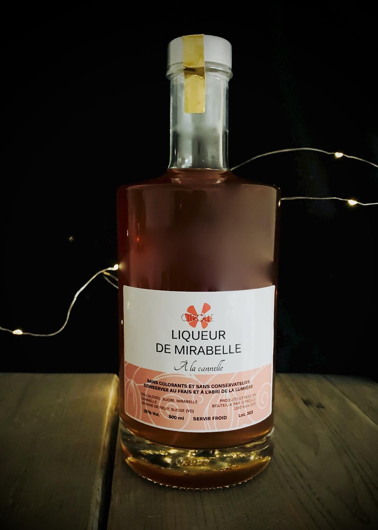 Liqueur Mirabelles & Cannelle